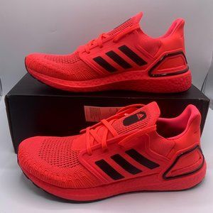 NEW Adidas Ultraboost 20 Men's Sneakers Size 11.5 Signal Pink Neon Cushioned